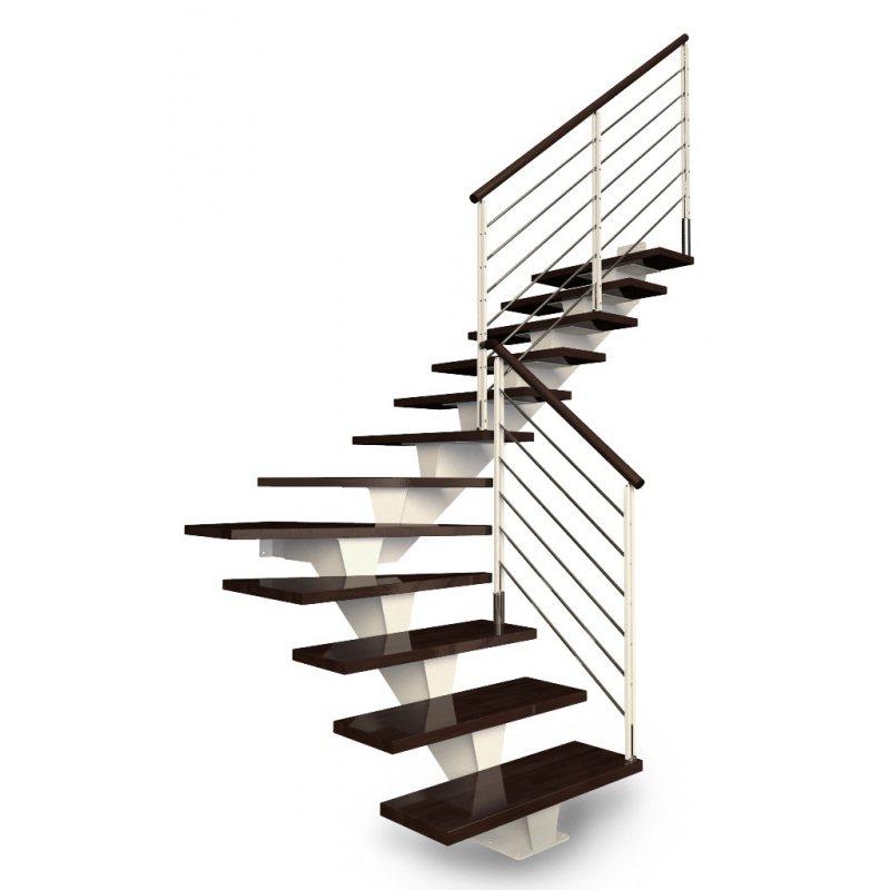 Escalier quart tournant limon central en metal for Prix escalier colimacon metal