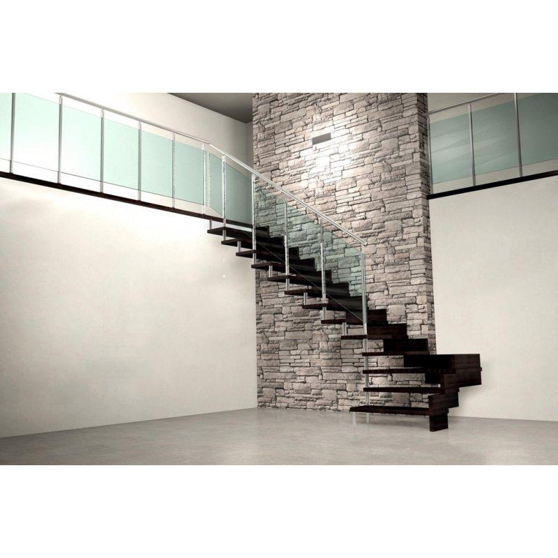 rampe d 39 escalier avec lisses inox. Black Bedroom Furniture Sets. Home Design Ideas