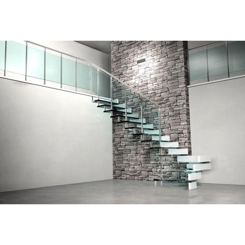 rampe d 39 escalier remplissage verre entre les montants. Black Bedroom Furniture Sets. Home Design Ideas