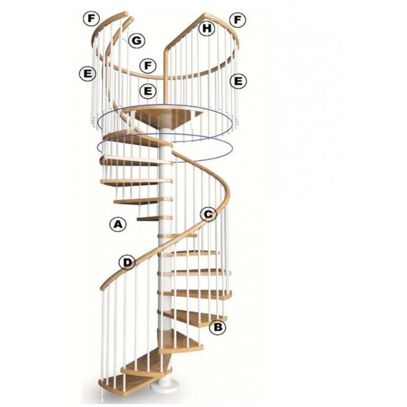 main courante bois 1 MARCHE pour escalier modèle MHEO