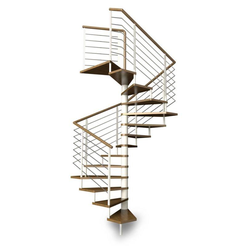 Escalier h lico dal carr for Prix escalier colimacon metal