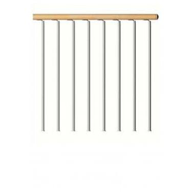 garde corps d'étage droit main courante bois