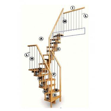 KIT limon central pour escalier modèle SUBTILE