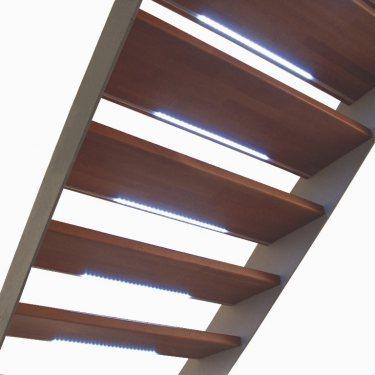 escalier droit pas cher IMAGINE LINEAR bois/métal