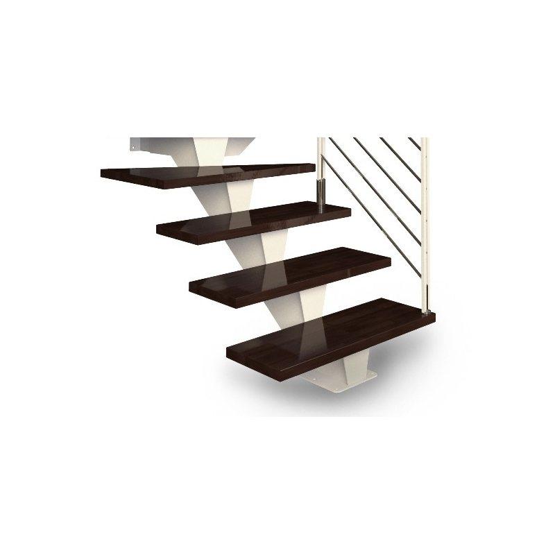 escalier métallique droit CELESTE bois métal