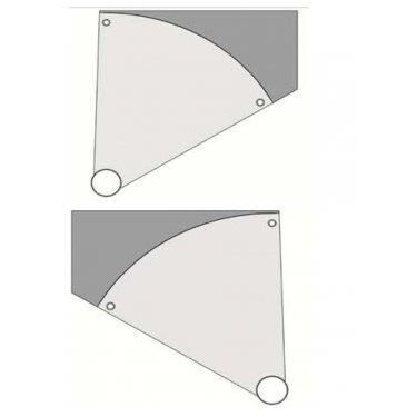 marche palière d'arrivée pour trémie carrée pour ecalier hélicoïdal modèle METALIS