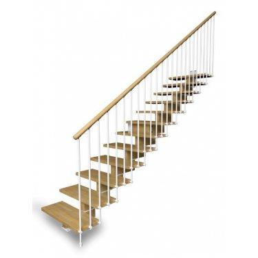 Escalier à limon central en bois Modèle AERIEN TRADITION
