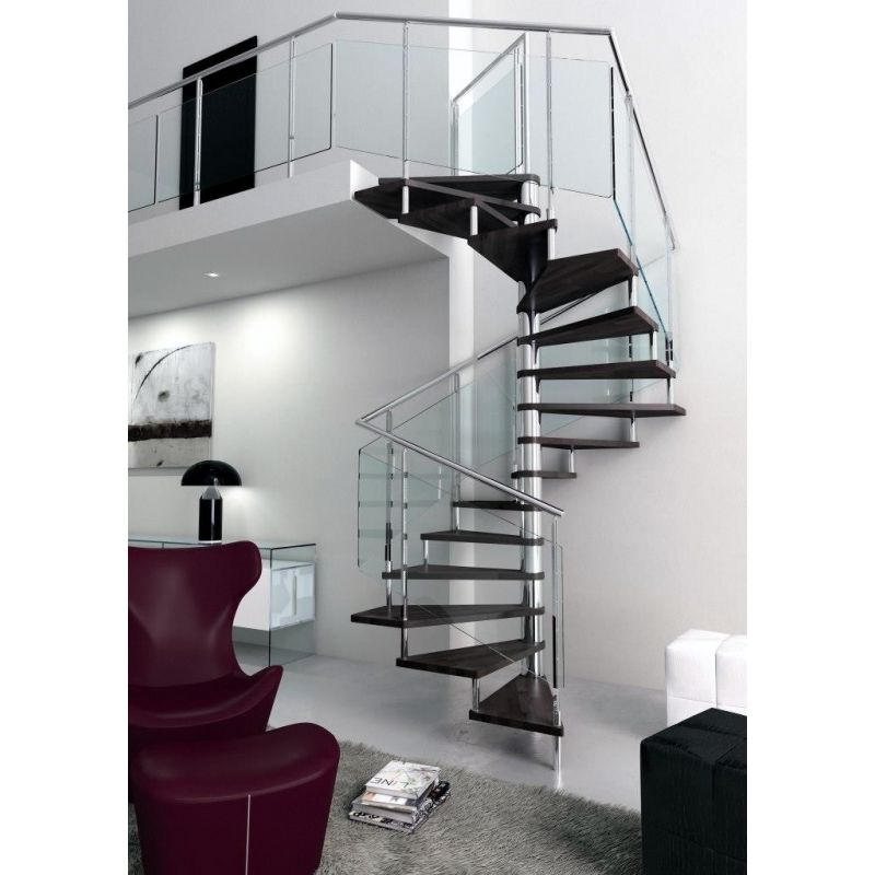 escalier h lico dal carr rampe inox. Black Bedroom Furniture Sets. Home Design Ideas