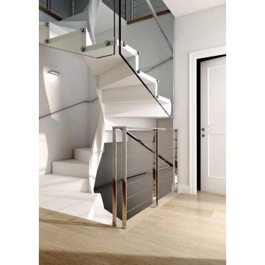 escalier colimaçon métal  bois verre EXCEPTION carré notre nouveauté 2014