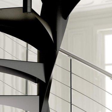 ESCALIER hélicoïdal escalier colimaçon métal pour les marches