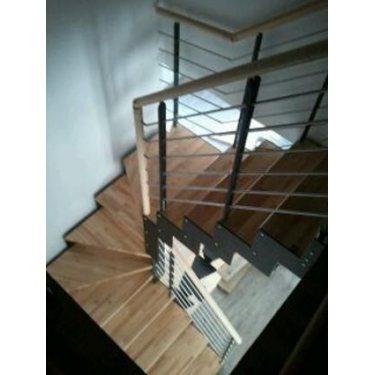 escalier quart tournant par cher DOUBLE LIMON IMAGINE LASER DEMI TOURNANT bois,  métal