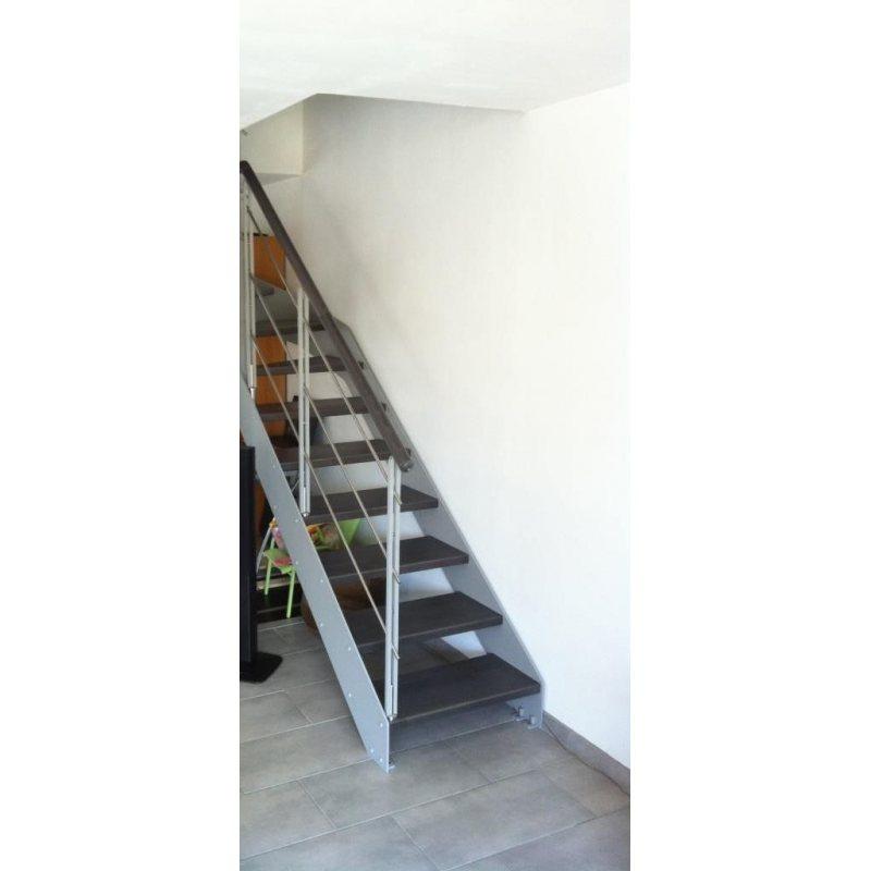 escalier droit pas cher limon métallique  IMAGINE LINEAR DROIT bois, métal