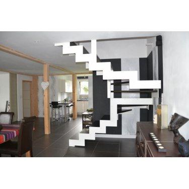 escalier tournant DOUBLE LIMON IMAGINE LASER DEMI TOURNANT bois,  métal
