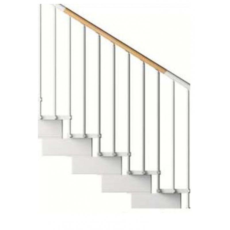 rampe extérieure seconde volée MC bois pour escalier pas cher