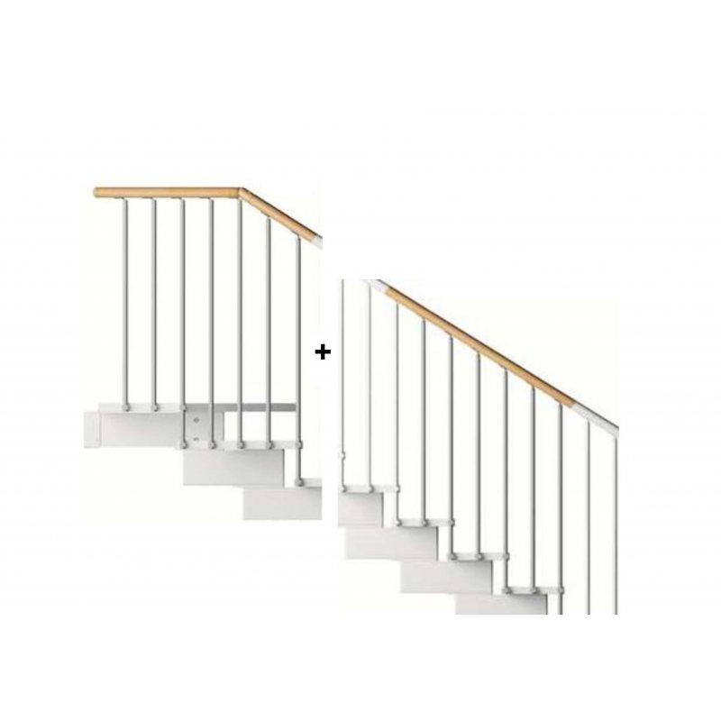 rampe extérieure première volée+1/4 T MC bois pour escalier pas cher