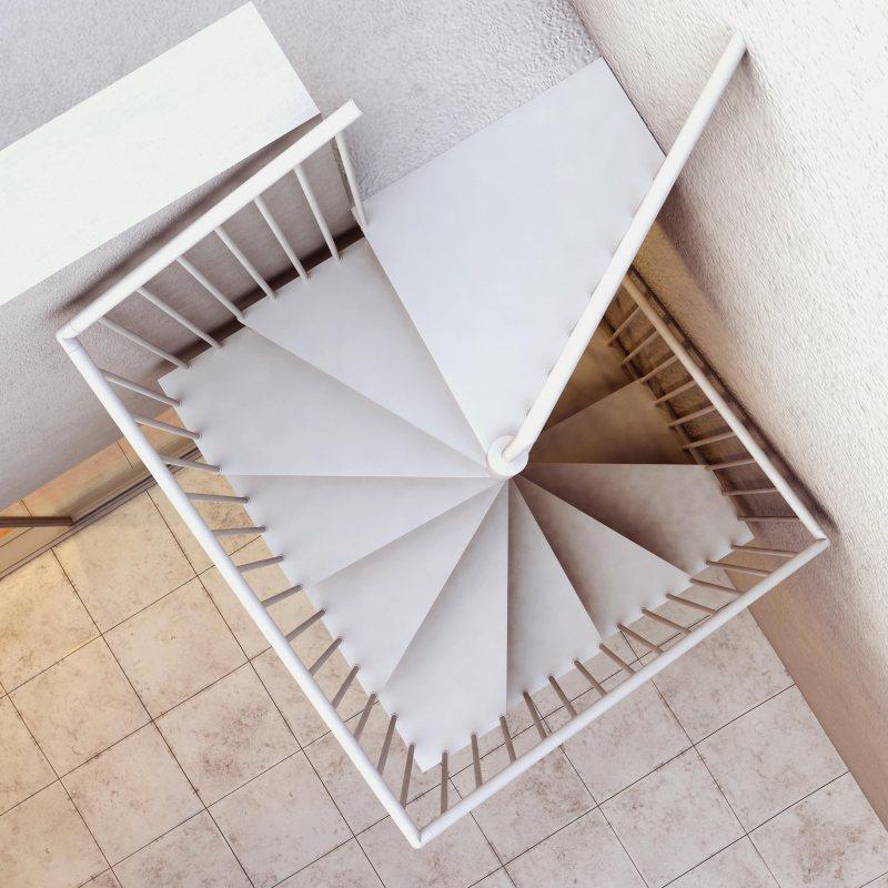 escalier colimaçon métal Métalis carré XL