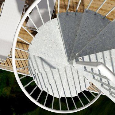 escalier colimaçon exterieur Métalis carré extérieur XL