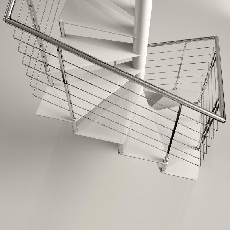 SIRIUS Carré XL escalier colimaçon  métal fût et marches