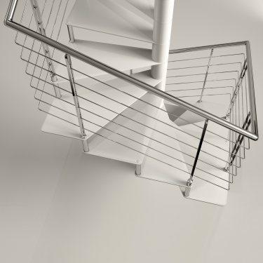 SIRIUS Carré escalier colimaçon en métal et marches en acier