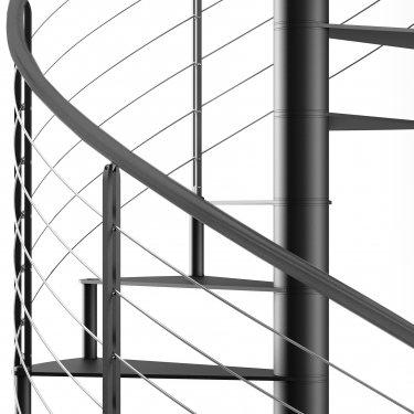 escalier colimaçon métal lisses inox  SIRIUS Rond