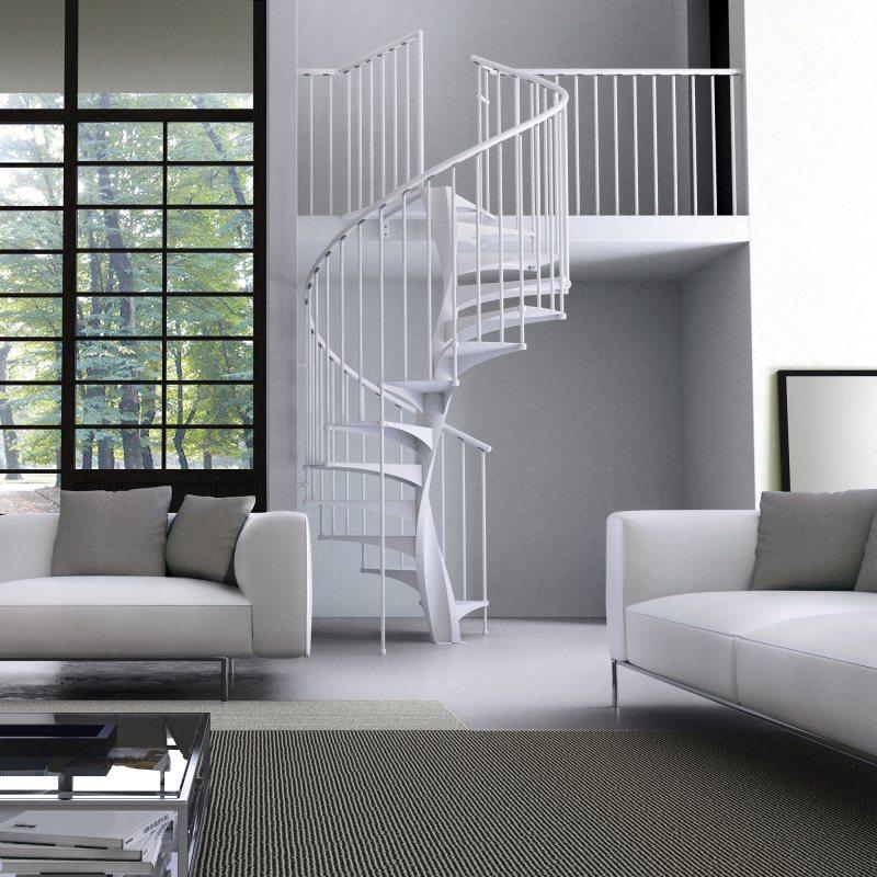 EXCEPTION Rond escalier colimaçon métal pour les marches et montants