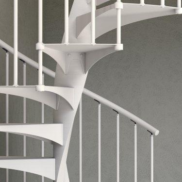 escalier colimaçon pas cher marches métal EXCEPTION Rond