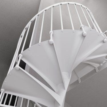 escalier colimaçon pas cher  en composite et marches métal EXCEPTION Rond