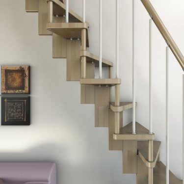 escalier gain de place SUBTILE  DROIT CONTEMPORAIN