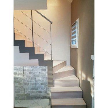 escalier avec contremarche