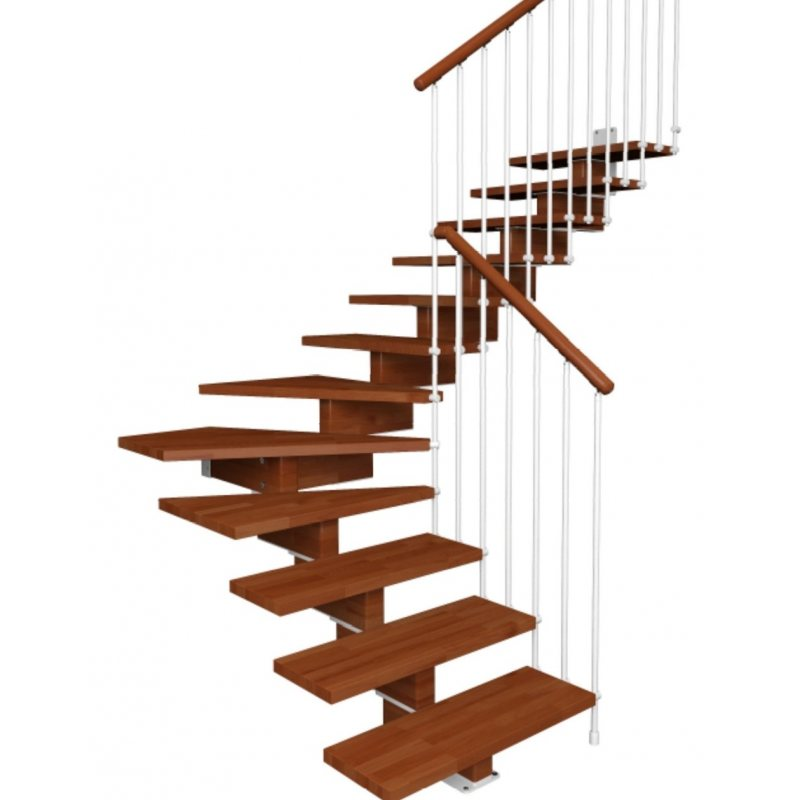 Escalier en kit prix AERIEN 1/4 tournant CONTEMPORAIN