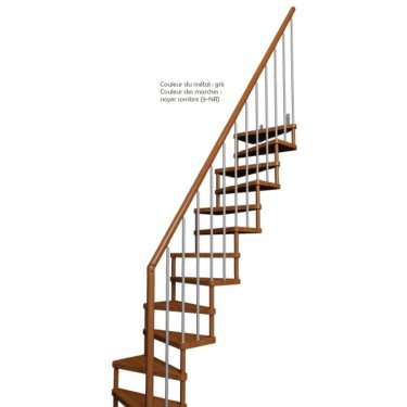 Escalier gain de place SUBTILE  1/4 TOURNANT TRADITION