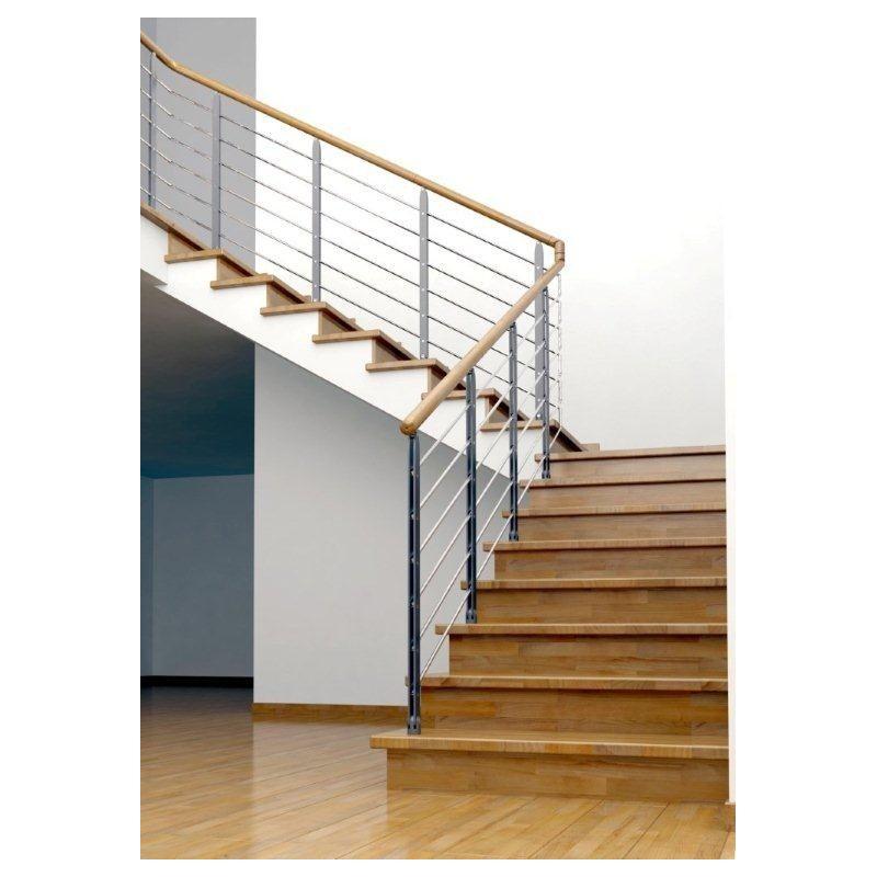120cm, 5 Tringles balustrade wolketon Rampe d/'escalier Acier Inoxydable Jardin escaliers Garde-corps Rambarde Main pour lint/érieur ext/érieur balcon