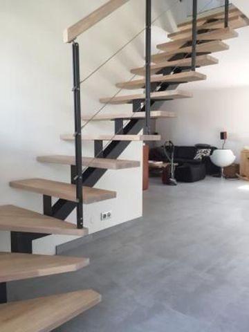 escalier avec cables tendus