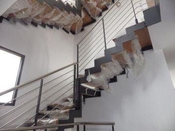 escalier doublie limon métal