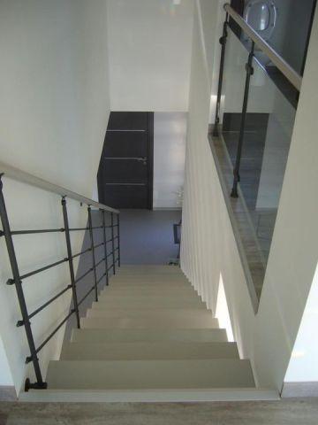 escalier métal bois limon central