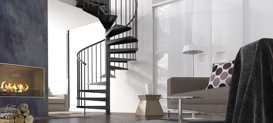Escalier colimaçon helicoidal